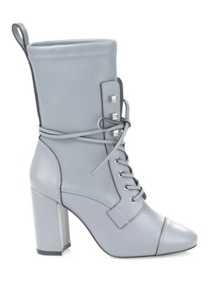 Veruka Leather Stretch Booties by Stuart Weitzman