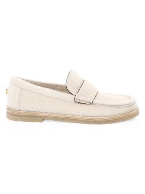 Bromley Shearling Loafers in Cream