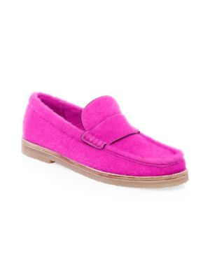 Women'S Bromley Shearling Loafers, Flamingo