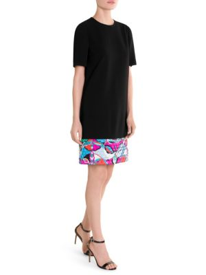 Quilted Print Hem T Shirt Dress by Emilio Pucci