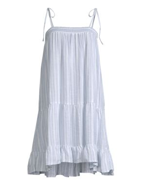 Ari Stripe Flounce Dress by Rails