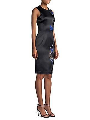 154e4f24217 Versace Collection - Barocco Embroidery Sheath Dress