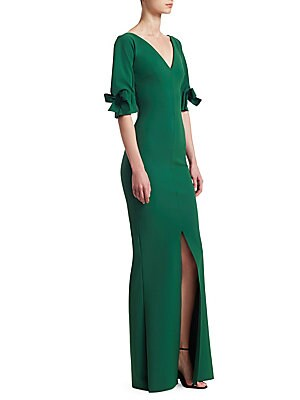 3f33d1b95589 Chiara Boni La Petite Robe - Three-Quarter Sleeve V-Neck Gown - saks.com