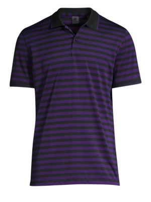 G/FORE Striped Polo Shirt in Wisteria