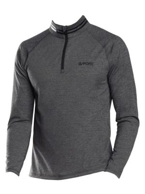 G/FORE Mid-Layer Quarter Zip Pullover in Heather Grey