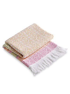 """Image of From the Christy Beach Collection. A boho-chic beach towel in a jacquard ombre design. Cotton Machine wash Made in Portugal 40""""W x 70""""L. Gifts - Bed And Bath. Christy."""
