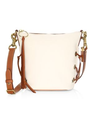 Leather Tie Shoulder Bag by Coach