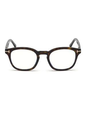 3fc54b2ab35fd Tom Ford 49MM Soft Square Tortoise Shell Optical. Dapper soft-square  eyeglasses ...
