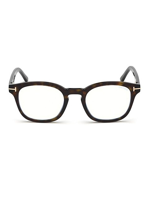 49MM Blue Block Soft Square Eyeglasses