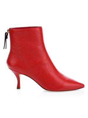 Juniper Stiletto Heel Leather Booties by Stuart Weitzman
