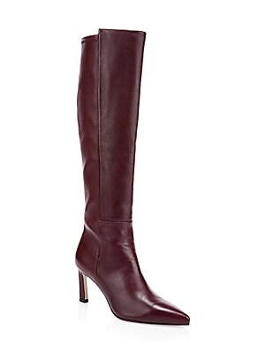 32f4a037ebd Stuart Weitzman - Eloise Leather   Suede Knee-High Boots - saks.com