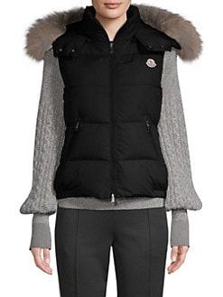 9a00b77b6356 Gallinule Matte Fur Hood Vest BLACK. QUICK VIEW. Product image