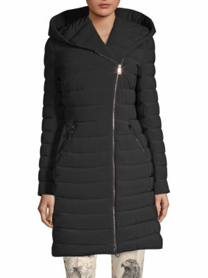 Barge Tech-Taffeta Puffer Coat - Black Size 2