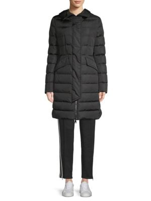 Grive Quilted Down Coat in Black