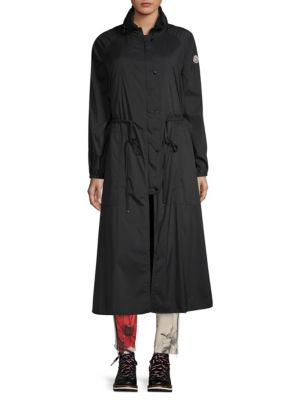Mouette Long Raincoat W/ Removable Hood, Black
