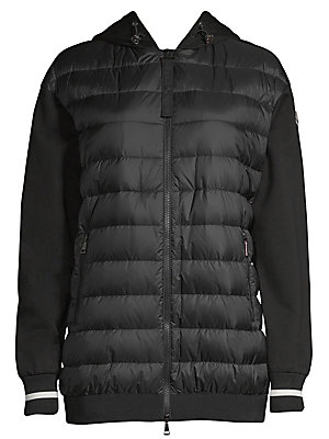 ebefac061 Moncler - Maglia Mixed Media Hooded Bomber - saks.com