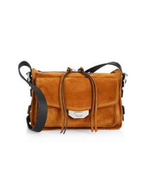 Small Field Leather Messenger Bag - Brown in 246 Tan Sue