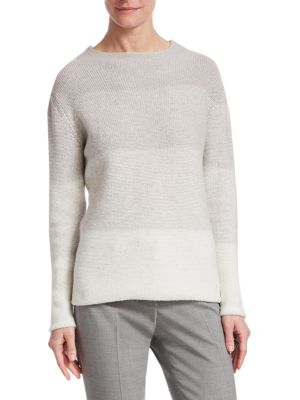 Ombre Highneck Sweater, Open Grey