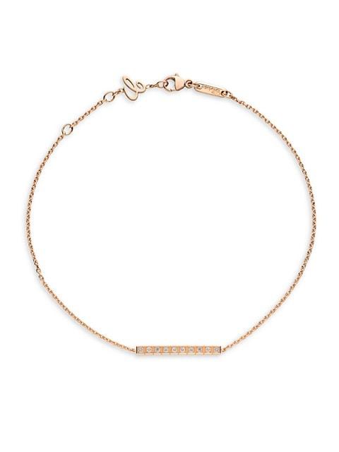 Ice Cube Diamond & 18K Rose Gold Bracelet