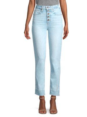 Sarah Button Fly High Waist Slim Jeans, Yosemite