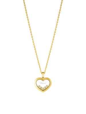 Chopard Happy Diamonds 18k Yellow Gold Diamond Pendant Necklace Saks Com