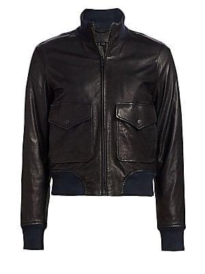 4e7c414a6 Rag & Bone - Mila Leather Bomber Jacket