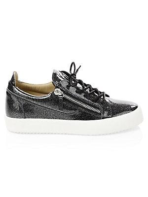 57f645636519d Giuseppe Zanotti - Glitter Patent Leather Sneakers - saks.com
