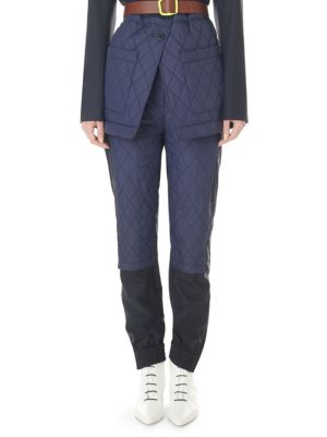 Quilted Jogger Pants by Tibi