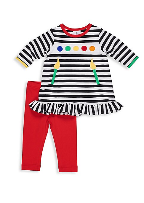 Baby Girls TwoPiece Paint Brush Tee and Leggings Set