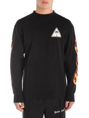 PALM ANGELS Palms & Flames Sweatshirt in Black