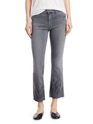 The Insider Frayed Ankle Jeans, Fan The Flames