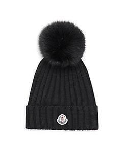 c1a5be1a427 Moncler. Fox Fur Pom-Pom Ribbed Hat