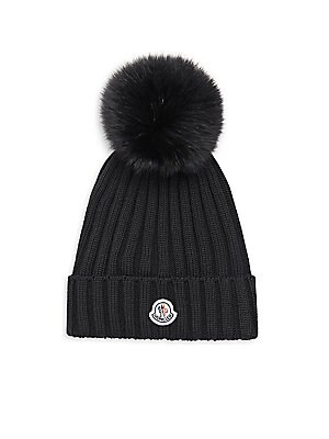 8ec97de15 Moncler - Fox Fur Pom-Pom Ribbed Hat - saks.com