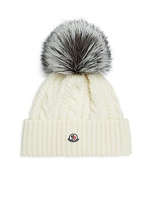 846e76678dd Moncler - Real Fur Wool   Cashmere Beanie - saks.com