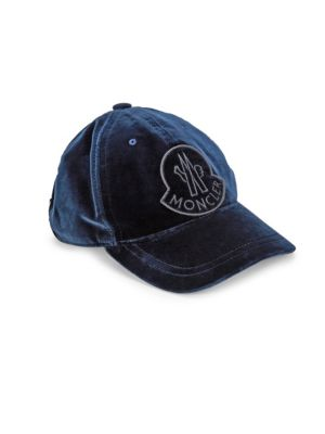 32dfdadabb493b Moncler - Logo Velvet Baseball Hat - saks.com
