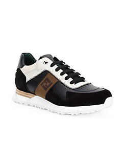 594be63ec10d QUICK VIEW. Fendi. Embroidered Colorblock Sneakers