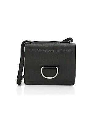 908c14543f56 Burberry - Medium D-Ring Vintage Check   Leather Crossbody Bag - saks.com