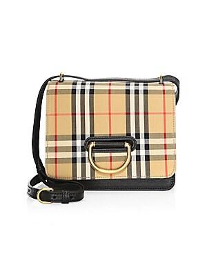 fdbef838c887 Balenciaga - Everyday Plaid Leather Camera Bag - saks.com
