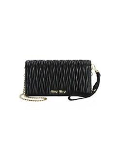 b7958bd4e8f5 Miu Miu. Mini Bandoliera Leather Shoulder Bag