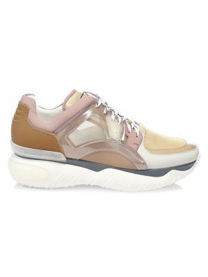 Nylon & Leather Sneakers - Beige, Tan Size 11 M in Neutrals