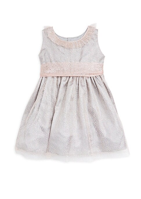 Toddlers Rose Mesh Waist ALine Dress