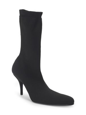 Sock-Knit Tall Booties in 1000 Black
