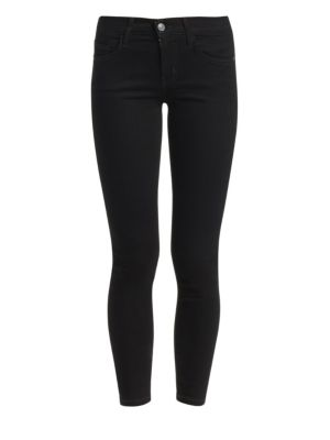 Current/Elliott The Stiletto Cropped Skinny Jeans In 0 Clean Stretch Black