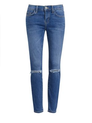Current Elliott The Stiletto Distressed Ankle Jeans