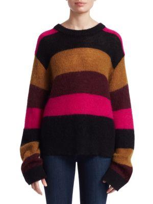 A.L.C Waverly Mohair Sweater, Black Magenta