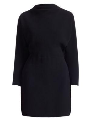 Marin Cowl Neck Mini Dress, Black