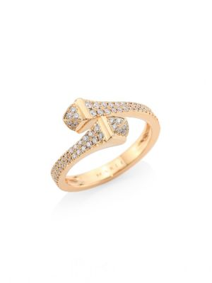 MARLI Cleo X Marli 18K Rose Gold & Diamond Ring