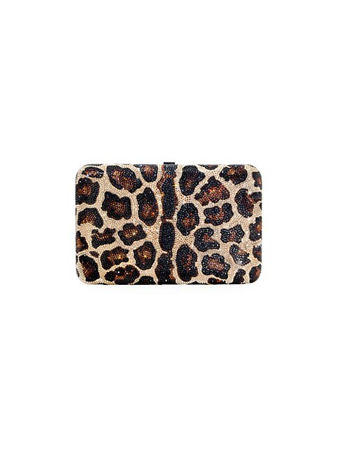 Seamless Leopard Crystal Clutch