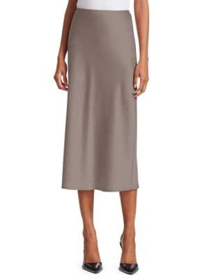Wash & Go Woven Midi Skirt by T By Alexander Wang