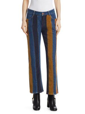 Cord Striped Denim Jeans, Multi